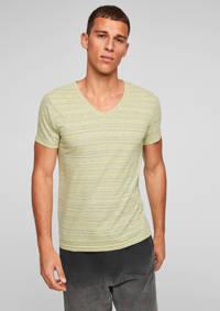Q/S designed by gestreept T-shirt geel, Geel