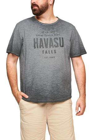 T-shirt Plus Size met tekst grijs