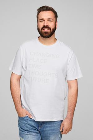 T-shirt Plus Size met tekst wit