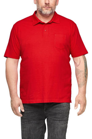 regular fit polo Plus Size rood