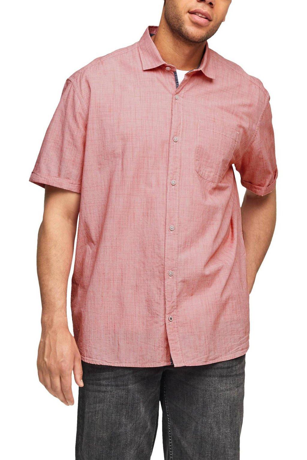 s.Oliver Big Size regular fit overhemd Plus Size rood, Rood