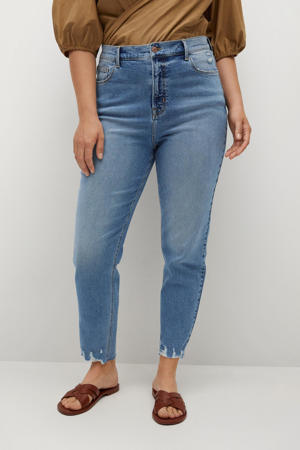 high waist mom jeans light denim