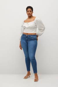 Violeta by Mango low waist super skinny jeans blauw, Blauw