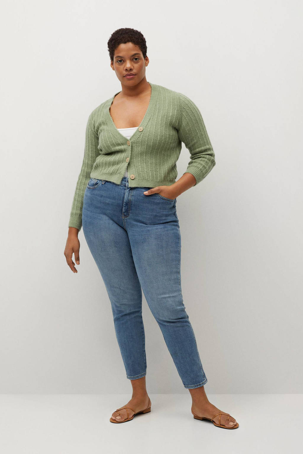 Violeta by Mango push-up super skinny jeans light denim, Light denim