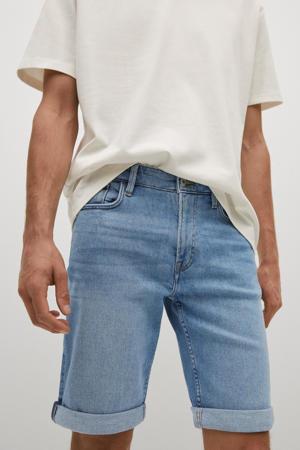 regular fit jeans short changeant blauw