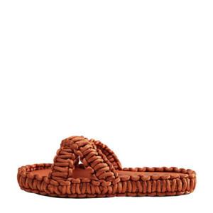 slippers oranjebruin