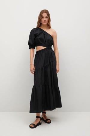 A-lijn jurk met open detail zwart