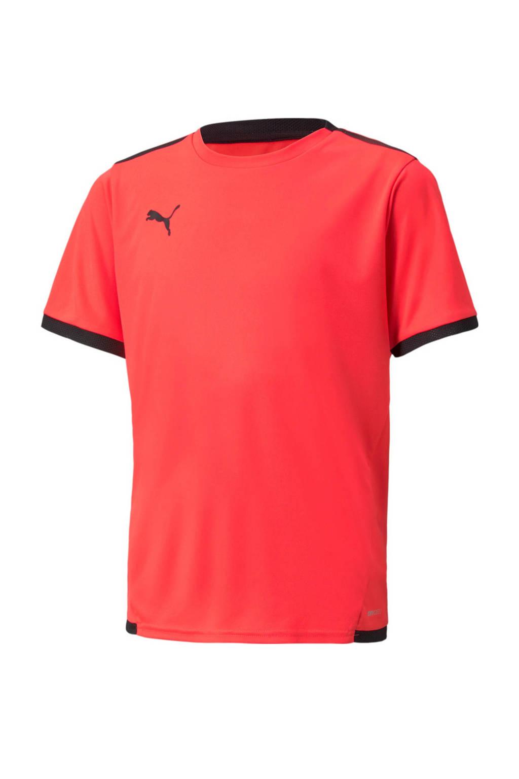 Puma Junior  voetbalshirt rood/zwart, Rood/zwart