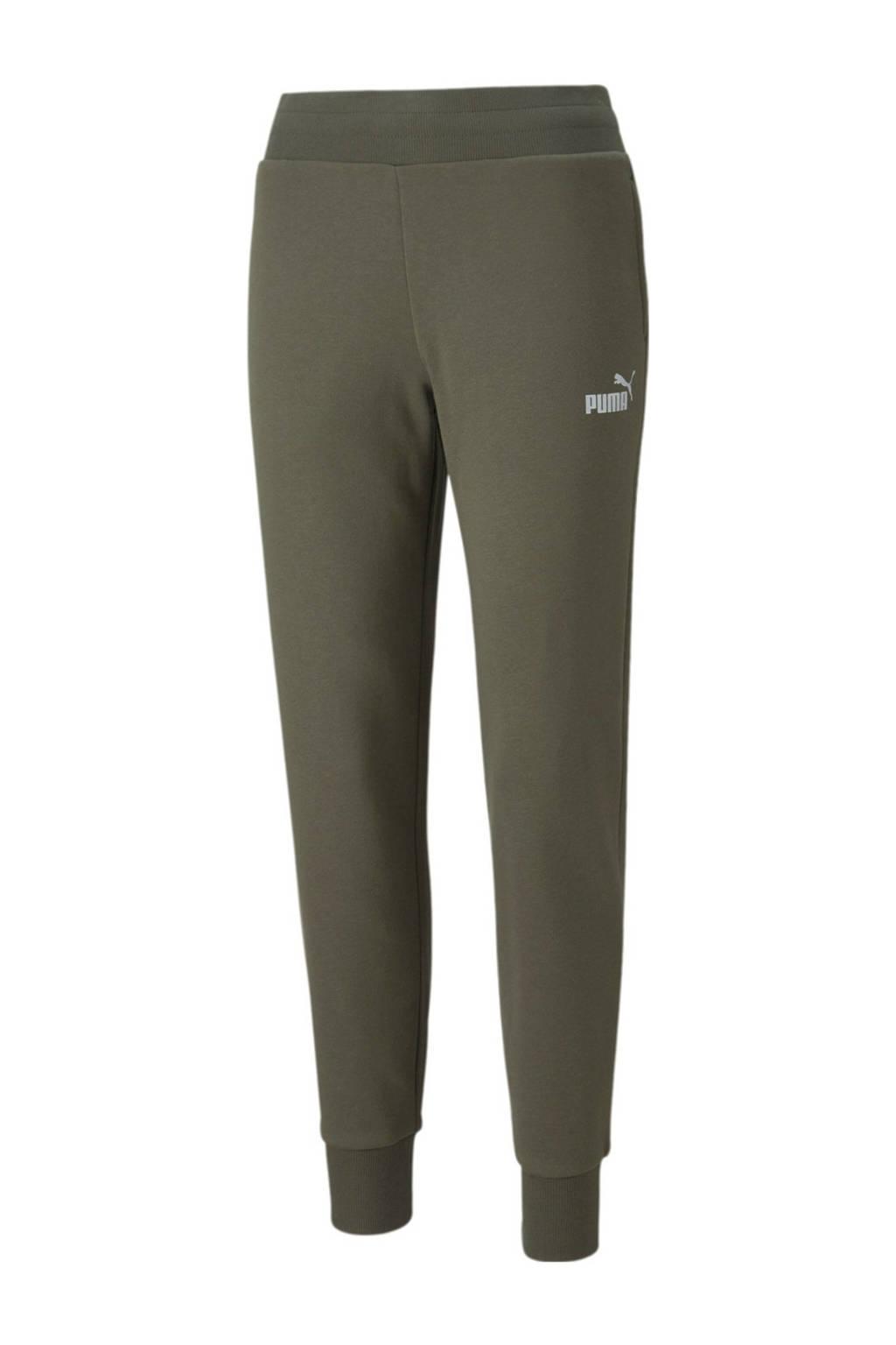 Puma regular fit broek met logo groen/zilver, Groen/zilver