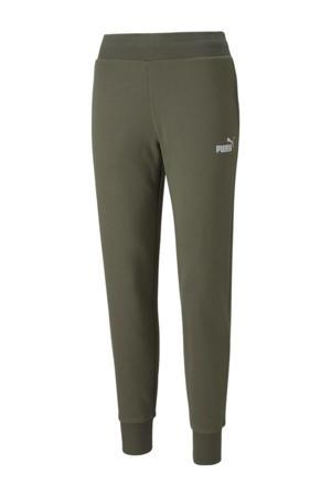 regular fit broek met logo groen/zilver