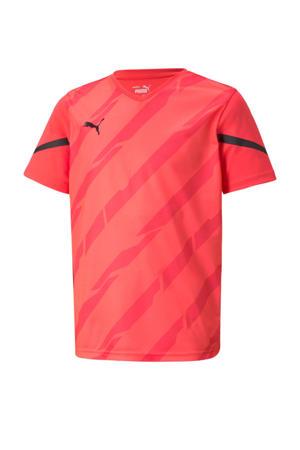 Junior  sport T-shirt rood/zwart