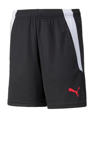 Junior  sportshort zwart/wit/rood