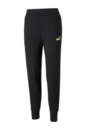 regular fit broek met logo zwart/goud