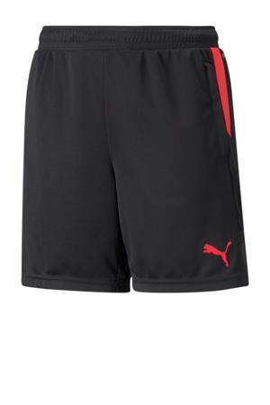 Junior  voetbalshort zwart/rood
