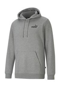Puma hoodie met logo grijs melange, Grijs melange
