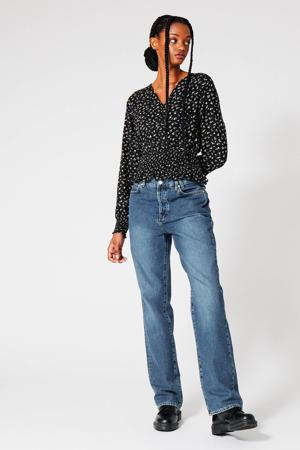 blouse met all over print print