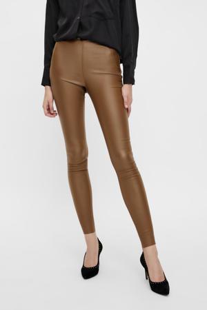 coated skinny legging OBJBELLE bruin