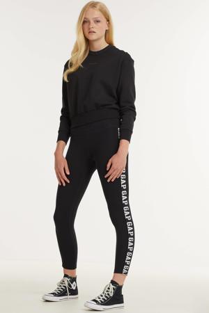 skinny legging met logo zwart