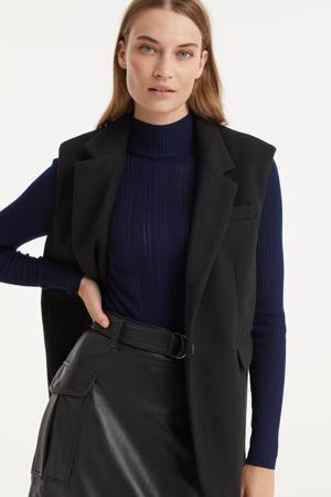 gilet VMLEE van gerecycled polyester zwart
