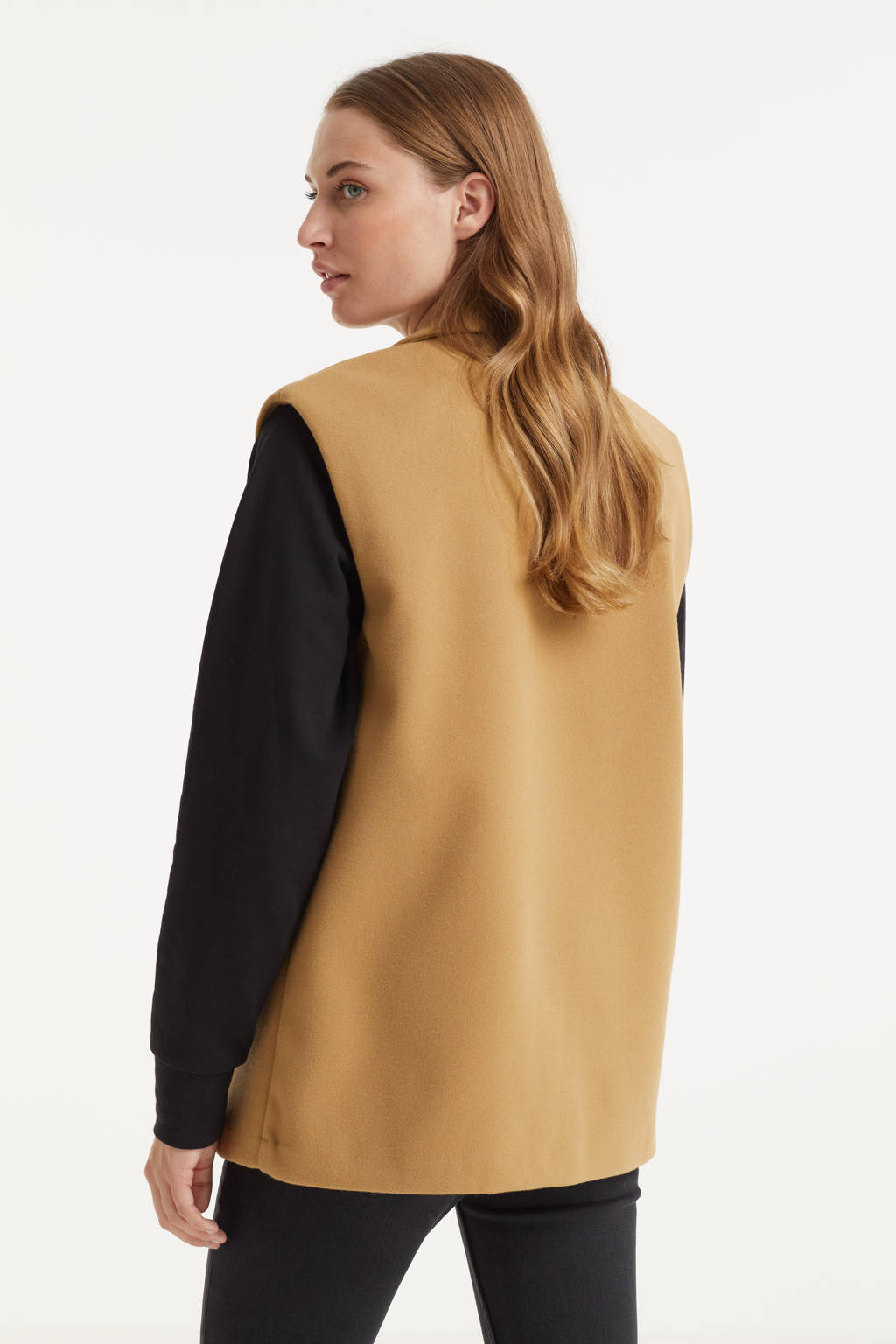 VERO MODA gilet VMLEE van gerecycled polyester camel, Camel