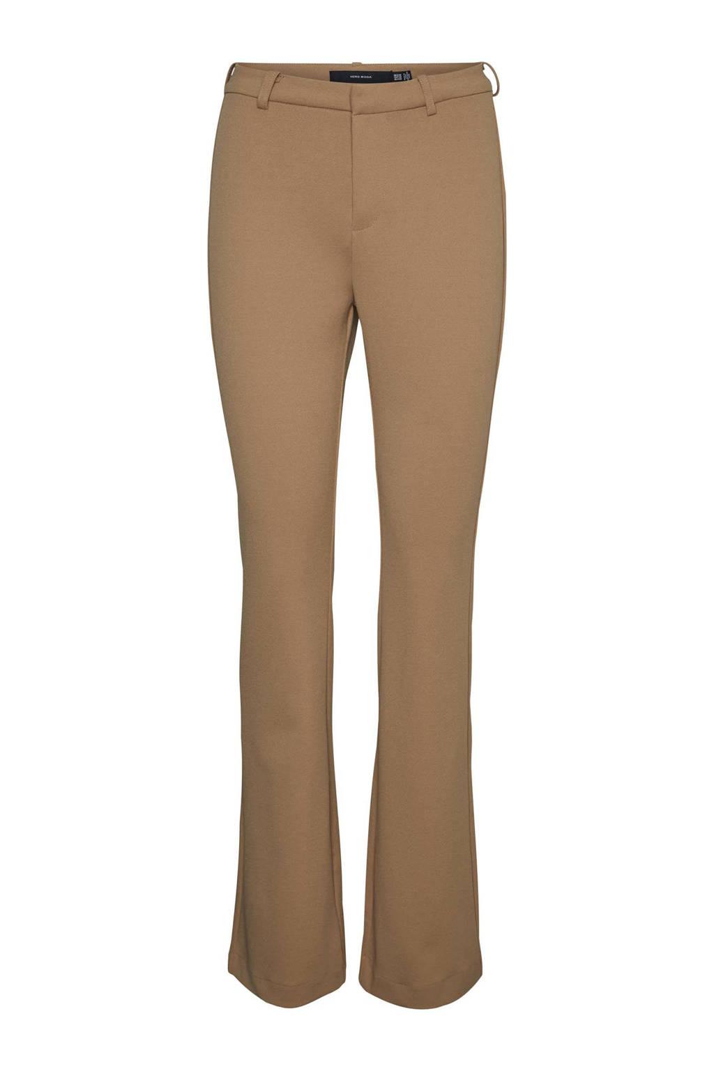 VERO MODA flared pantalon VMAMIRA camel, Camel