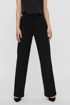 straight fit pantalon VMZAMIRA van gerecycled polyester zwart