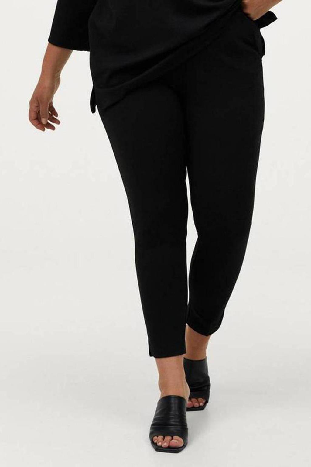 Ellos cropped slim fit broek ELSA zwart, Zwart