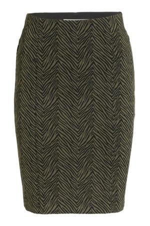 rok IHKATE met zebraprint groen/zwart