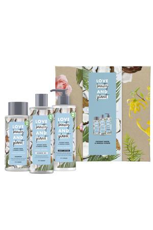 Coconut Water & Mimosa Flower - showergel, bodylotion en shampoo - Geschenkset