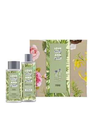 Rosemary & Vetiver - showergel en shampoo - Geschenkset