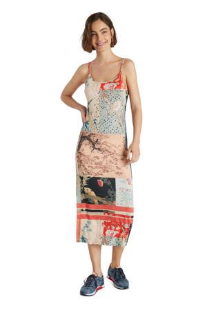 maxi jurk met all over print multicolor