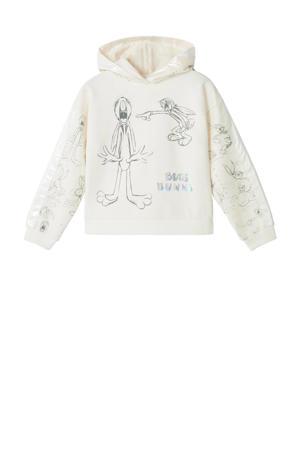 Bugs Bunny hoodie met all over print offwhite