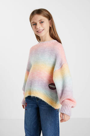 gestreepte trui roze/multicolor