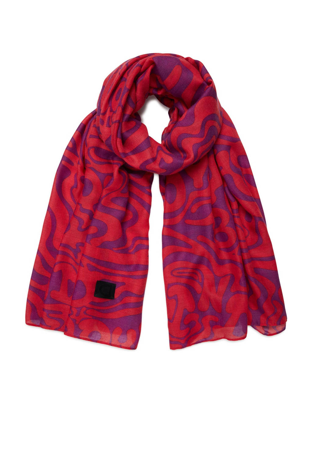 Desigual sjaal rood/paars, Rood/paars