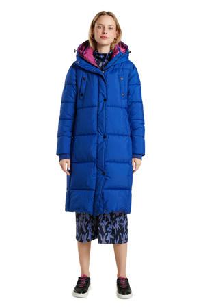 gewatteerde jas blauw