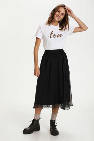 T-shirt Hani met tekst wit