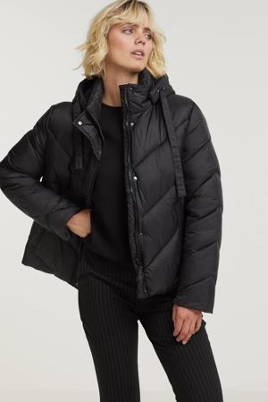 gewatteerde jas Hayli zwart