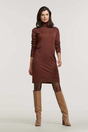 fijngebreide jurk Mila bruin