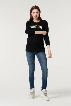 zwangerschapssweater met tekst zwart