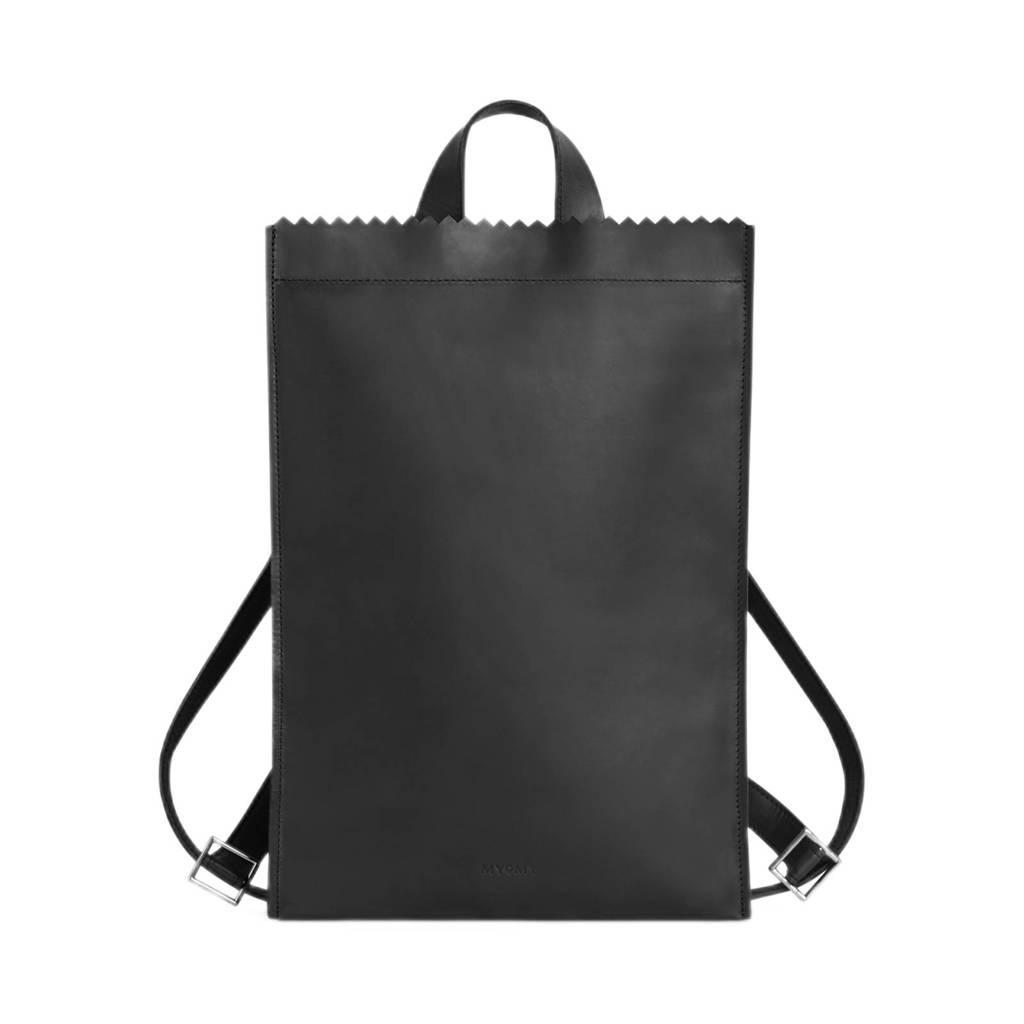 MYOMY  leren rugzak My Paper Bag zwart, Zwart