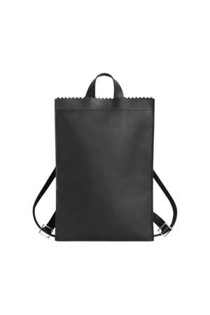 leren rugzak My Paper Bag zwart