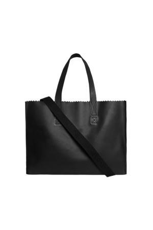 15 inch leren laptoptas My Paper Bag Work zwart