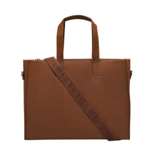 15 inch leren laptoptas My Paper Bag Work bruin