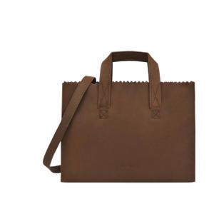 leren handtas My Paper Bag bruin