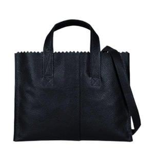 leren handtas My Paper Bag zwart