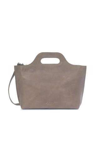 leren handtas My Carry Bag taupe