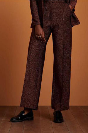wide leg pantalon Ethel Pintuck Ballroom bruin
