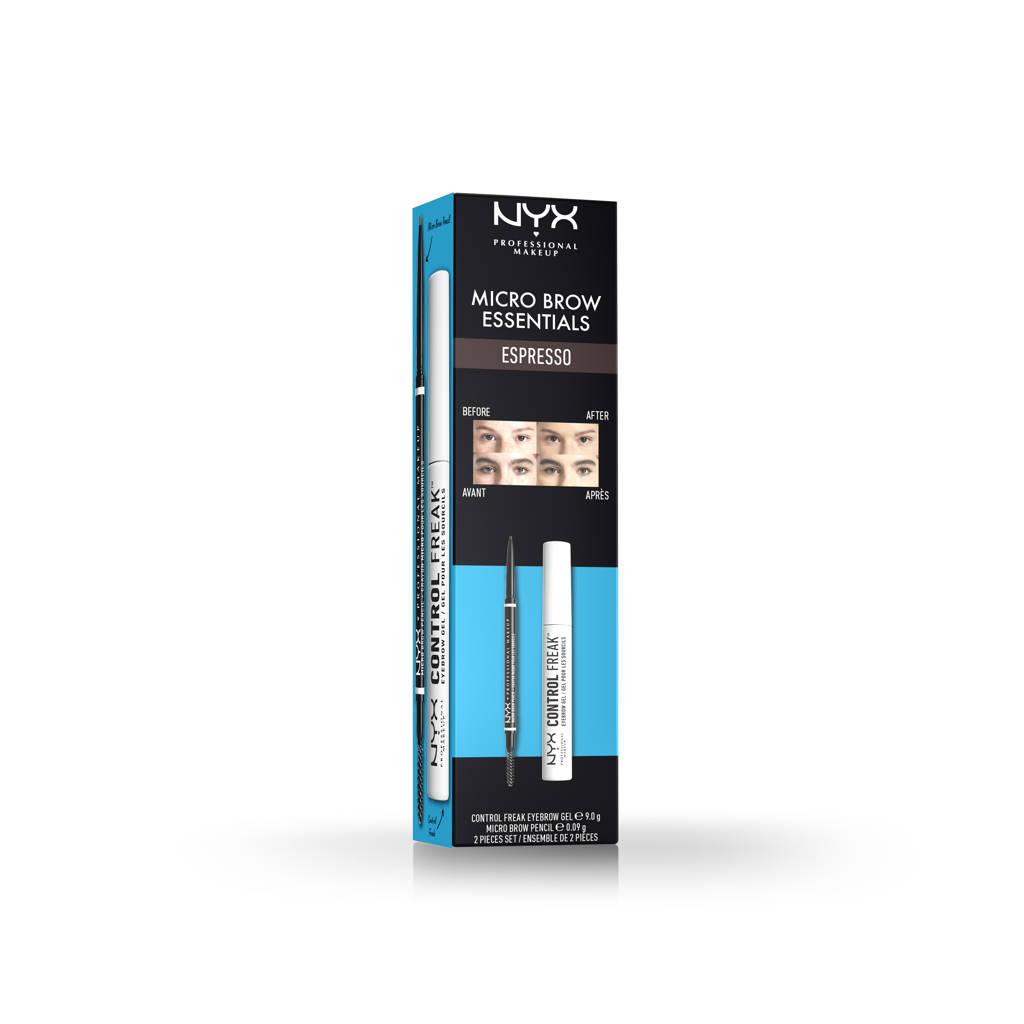 NYX Professional Makeup Micro Brow Essentials Set - Espresso