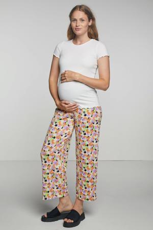 ribgebreide zwangerschapstop Emma wit