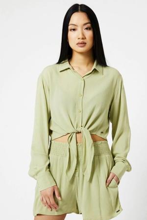 blouse soft green